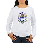 Wolf Family Crest Women's Long Sleeve T-Shirt