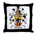 Witten Family Crest Throw Pillow