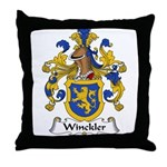 Winckler Family Crest Throw Pillow