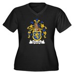 Winckler Family Crest Women's Plus Size V-Neck Dar