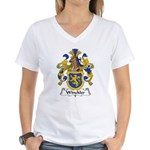 Winckler Family Crest Women's V-Neck T-Shirt