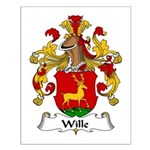 Wille Family Crest Small Poster