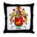 Wille Family Crest Throw Pillow