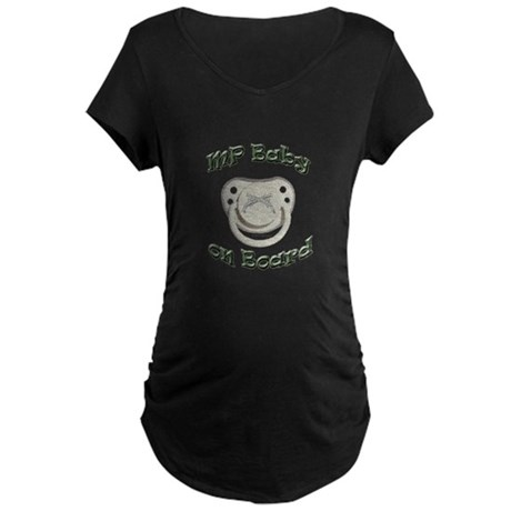 MP Baby on Board Maternity Dark T-Shirt