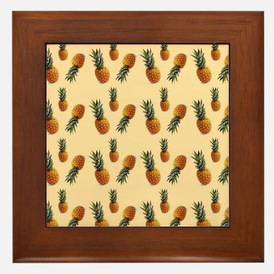 cute pineapple pattern Framed Tile