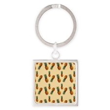 cute pineapple pattern Square Keychain