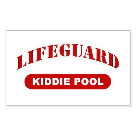 Lifeguard Kiddie Pool Rectangle Sticker