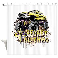 Regret Nothing Mud Truck Shower Curtain