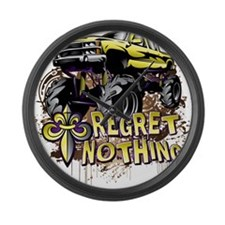 Regret Nothing Mud Truck Large Wall Clock