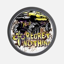 Regret Nothing Mud Truck Wall Clock