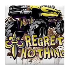 Regret Nothing Mud Truck Tile Coaster