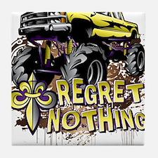 Regret Nothing Mud Truck Tile Coaster