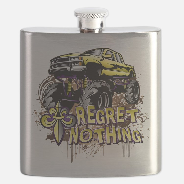 Regret Nothing Mud Truck Flask