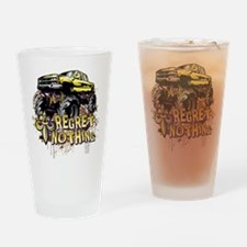Regret Nothing Mud Truck Drinking Glass
