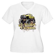 Regret Nothing Mud Truck Plus Size T-Shirt