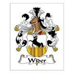 Wider Family Crest Small Poster