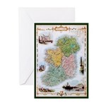 Irish Map & Landmarks St. Patrick's Day Cards (10)