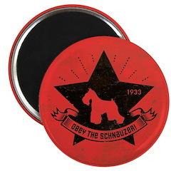 Obey the Schnauzer! Star icon retro Magnet
