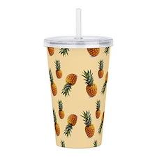 cute pineapple pattern Acrylic Double-wall Tumbler