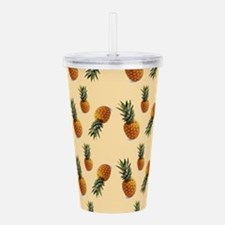 cute pineapple pattern Acrylic Double-wall Tumbler