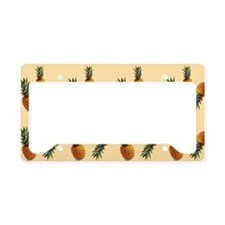 cute pineapple pattern License Plate Holder