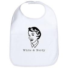White & Nerdy Woman Bib