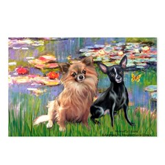 Lilies (2) & 2 Chihuahuas Postcards (Package of 8)