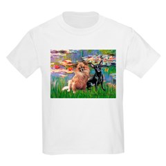 Lilies (2) & 2 Chihuahuas T-Shirt