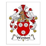 Wenden Family Crest Small Poster