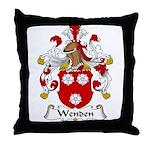 Wenden Family Crest Throw Pillow