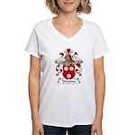 Wenden Family Crest Women's V-Neck T-Shirt