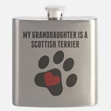 My Granddaughter Is A Scottish Terrier Flask