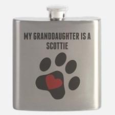 My Granddaughter Is A Scottie Flask
