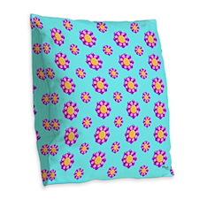 Tribal Flowers by Xennifer Burlap Throw Pillow