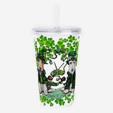 Fox Terrier St. Patrick's Day Acrylic Double-wall