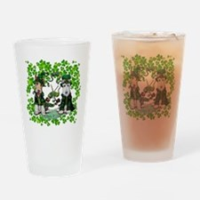 Fox Terrier St. Patrick's Day Drinking Glass