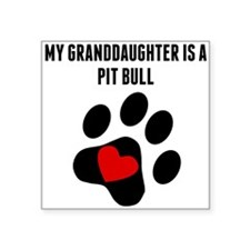 My Granddaughter Is A Pit Bull Sticker