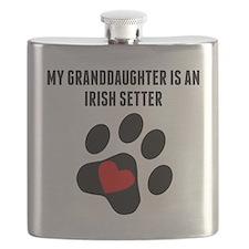 My Granddaughter Is An Irish Setter Flask