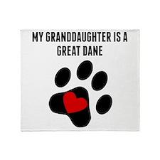 My Granddaughter Is A Great Dane Throw Blanket