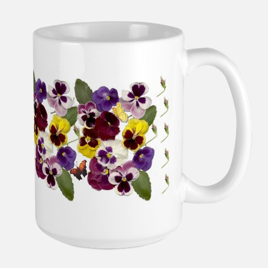 Pansies with Butterflies Mugs