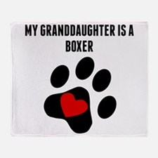 My Granddaughter Is A Boxer Throw Blanket