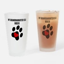 My Granddaughter Is A Boxer Drinking Glass
