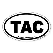 Tacoma, Washington TAC Oval Euro Decal