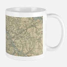 Vintage Map of The Richmond Virginia Area (18 Mugs