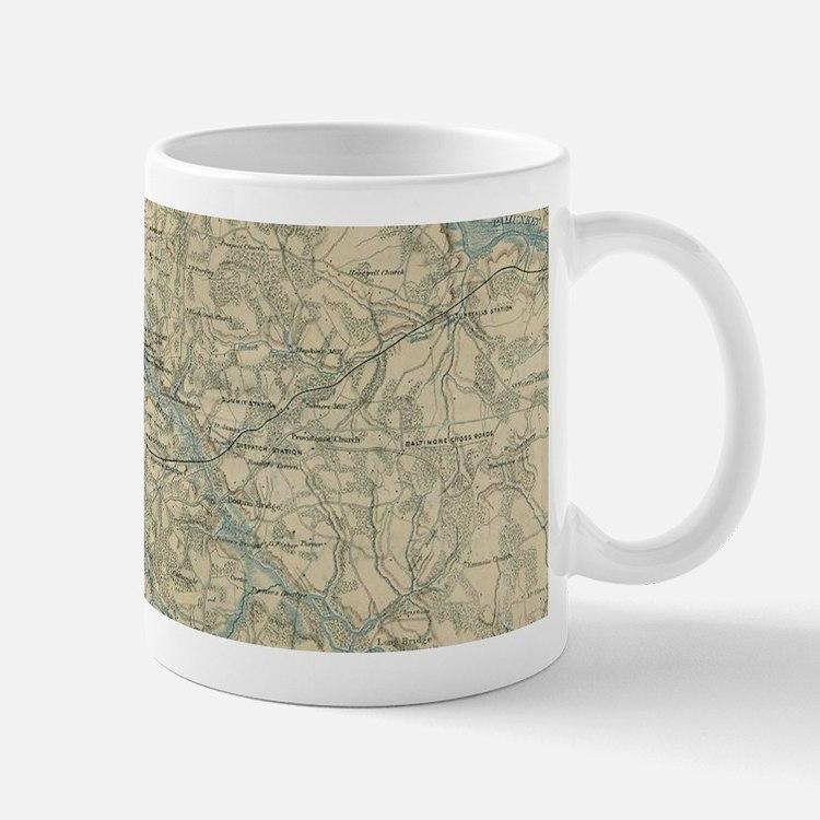 Vintage Map of The Richmond Virginia Area (18 Mugs