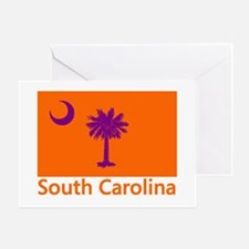 Clemson Flag Greeting Card