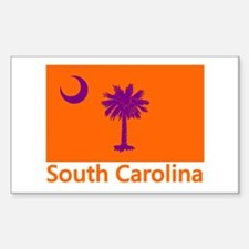 Clemson Flag Rectangle Decal