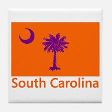 Clemson Flag Tile Coaster