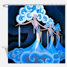 Art Deco Folies Bergere Shower Curtain