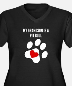 My Grandson Is A Pit Bull Plus Size T-Shirt